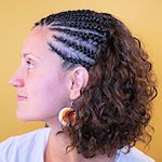Open Cornrows mit Thermofiberhaar