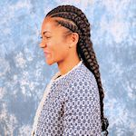 Sculptered, knotless Cornrows