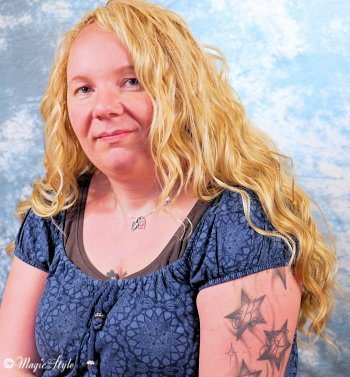 Dicke Blonde Frau